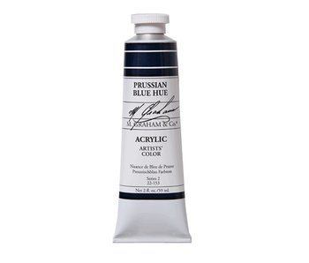 M. GRAHAM ARTISTS ACRYLIC 2OZ PRUSSIAN BLUE HUE