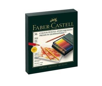FABER CASTELL POLYCHROMOS COLORED PENCIL SET 36PK BOX
