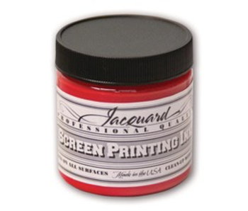 JACQUARD PROFESSIONAL SCREEN PRINTING INK 4OZ BRIGHT RED