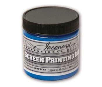 JACQUARD PROFESSIONAL SCREEN PRINTING INK 4OZ OPAQUE BLUE