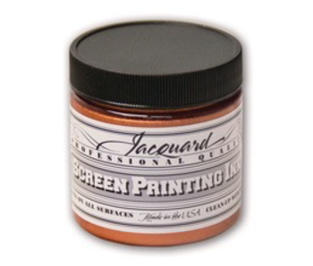 JACQUARD PROFESSIONAL SCREEN PRINTING INK 4OZ COPPER