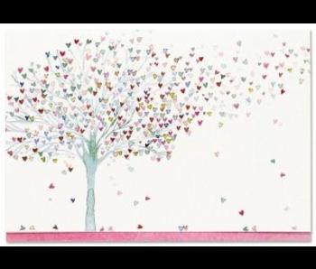 NOTECARD TREE OF HEARTS