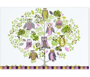 NOTECARD OWL FOREST