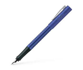FABER CASTELL GRIP 2011 FOUNTAIN PEN BLUE-LIGHT BLUE BROAD TIP WITH CONVERTER