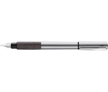 LAMY FOUNTAIN PEN ACCENT ALUMINIUM/GREY WOOD STEEL EF