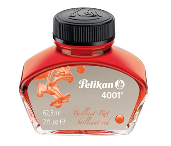PELIKAN 4001 FOUNTAIN PEN INK 30ML BRILLIANT RED