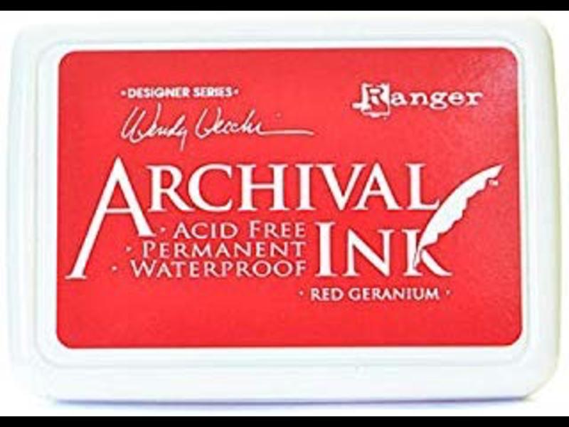 Ranger Archival Ink Pad Red Geranium