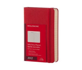 MOLESKINE LARGE HC DAILY DAIRY PLANNER 2017 RED