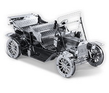 METAL EARTH 3D MODEL SILVER: 1908 FORD MODEL T