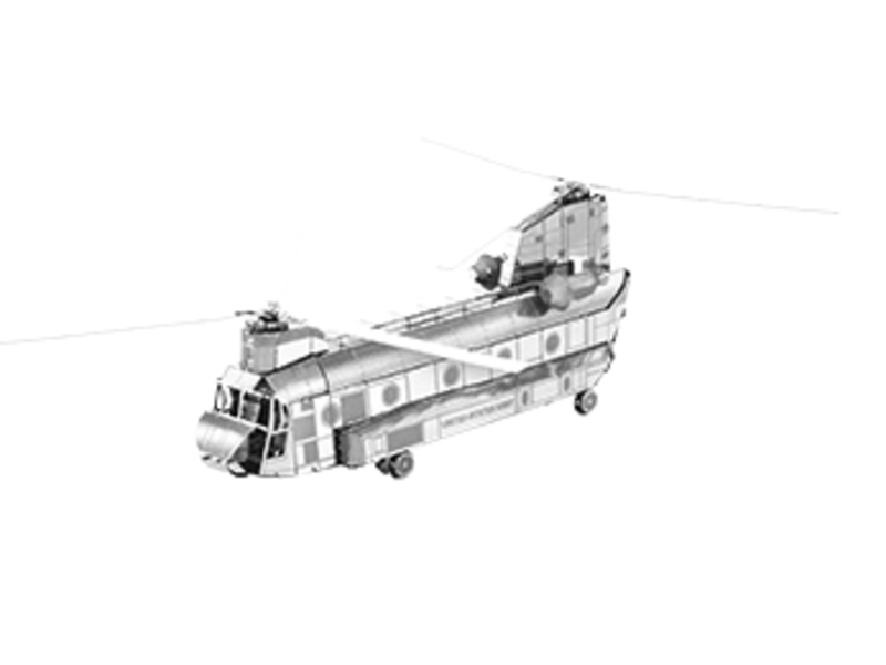 METAL EARTH 3D MODEL SILVER: CH-47 CHINOOK