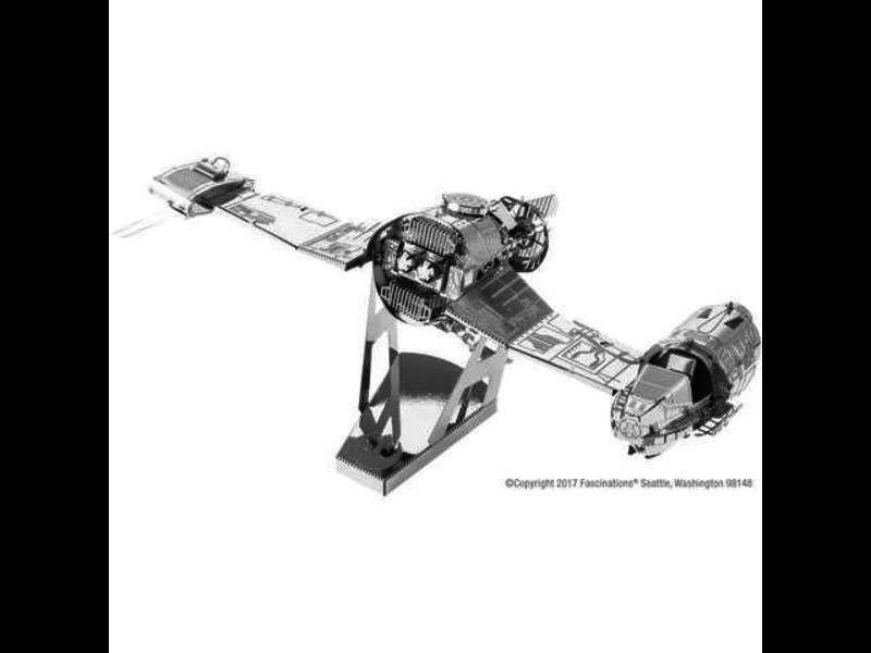 THINKPLAY METAL EARTH 3D MODEL SILVER: STAR WARS RESISTANCE SKI SPEEDER
