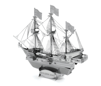METAL EARTH 3D MODEL SILVER: GOLDEN HIND