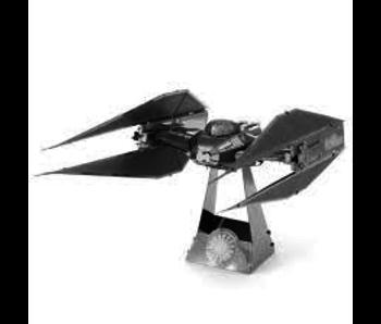 METAL EARTH 3D MODEL SILVER: STAR WARS KYLO REN'S TIE SILENCER