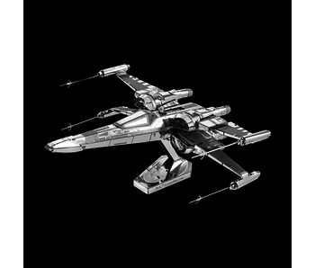 METAL EARTH 3D MODEL SILVER: STAR WARS POE DAMERON'S X-WING FIGHTER