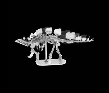 METAL EARTH 3D MODEL SILVER: STEGOSAURUS