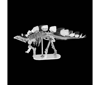 METAL EARTH 3D MODEL SILVER: STEGOSAURUS