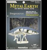 THINKPLAY METAL EARTH 3D MODEL SILVER: STEGOSAURUS