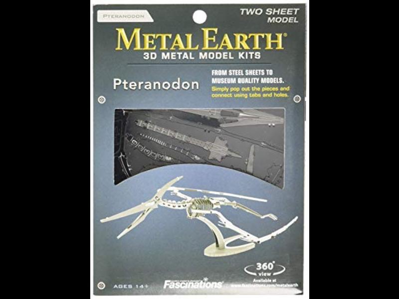 THINKPLAY METAL EARTH 3D MODEL SILVER: PTERADON