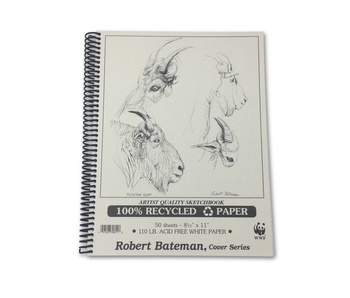 ROBERT BATEMAN RECYCLED SKETCHBOOK 8.5x11