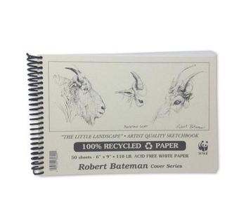 ROBERT BATEMAN RECYCLED SKETCHBOOK 6X9