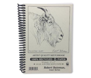 ROBERT BATEMAN RECYCLED SKETCHBOOK 5x7