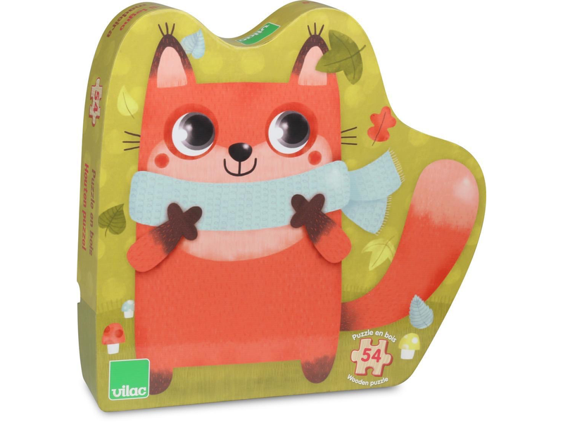 VILAC WOOD PUZZLE: LITTLE FOX 54 PIECES