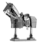 THINKPLAY METAL EARTH 3D MODEL SILVER: HORSE ARMOR