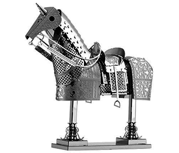 METAL EARTH 3D MODEL SILVER: HORSE ARMOR