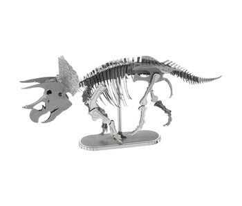 METAL EARTH 3D MODEL SILVER: TRICERATOPS
