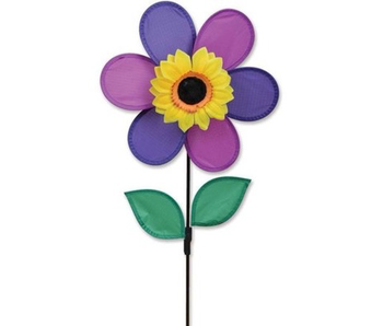 12 Inch Purple Flower Spinner