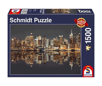 Schmidt Puzzle 1500 New York Skyline at Night