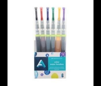 Watercolour Brush Set 6pc Full