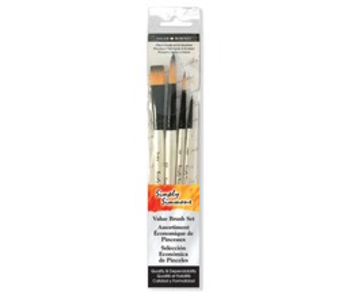 SIMPLY SIMMONS 4 BRUSH WC MIX BRUSH SET