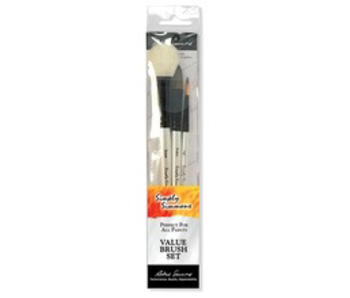 SIMPLY SIMMONS 3 BRUSH WC NAT BRUSH SET