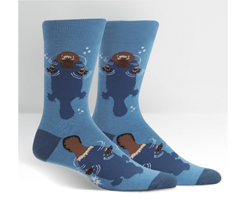 SOCK IT TO ME MEN'S CREW PLATYPUS