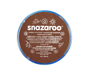 SNAZAROO FACE PAINT CARDED 18ML LIGHT BROWN