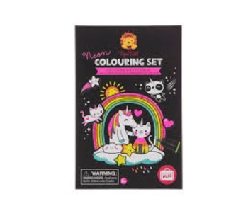 TIGER TRIBE COLOURING SET: UNICORNS & FRIENDS NEON