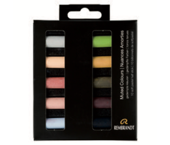 REMBRANDT SOFT PASTEL Muted Colours 10 Half Stick