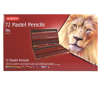 DERWENT 72 PASTEL PENCILS IN WOODEN BOX