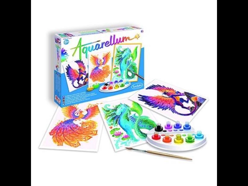 Aquarellum: Magic Canvas Large Mythical Animals