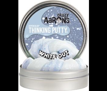 """CRAZY AARON'S THINKING PUTTY 4"""" TIN WHITE"""