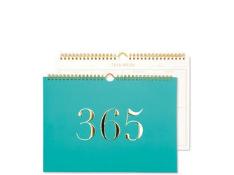 GO STATIONARY WEEKLY PLANNER LARGE TEAL