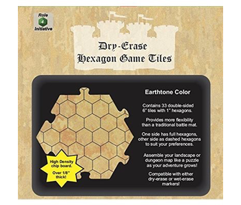 Dry Erase Hexagon Game Tiles: Earthtone