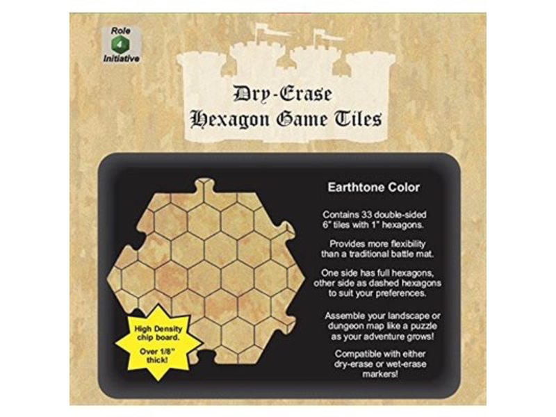 Dry Erase Hexagon Game Tiles: Earthtone