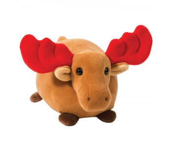 Douglas Cuddle Toy: Moose with Red Antlers  Merry Macaroon