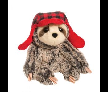 Douglas Cuddle Toy Plush Blitzen Sloth with Bomber Hat
