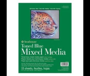 STRATHMORE TONED BLUE MIXED MEDIA 9X12