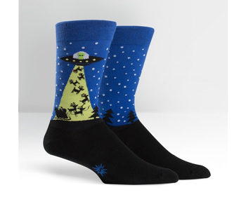 Sock It To Me Men's Crew: The Alien Who Stole Christmas