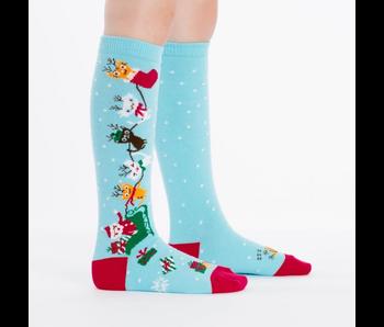 Sock It To Me Junior Knee: Jingle Cats