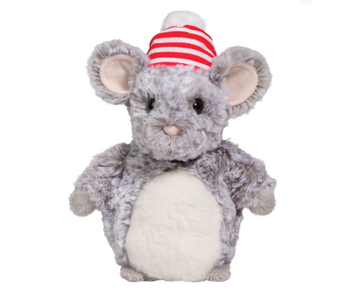 DOUGLAS PLUSH CUDDLE TOY HOLIDAY DELIGHT - MOUSE WITH HAT